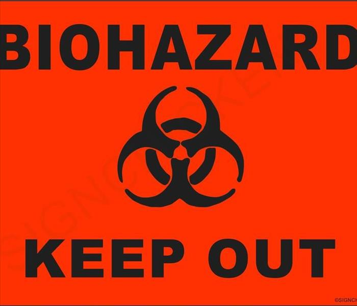 Biohazard SERVPRO Boihazard and Sewage Cleanup Specialist