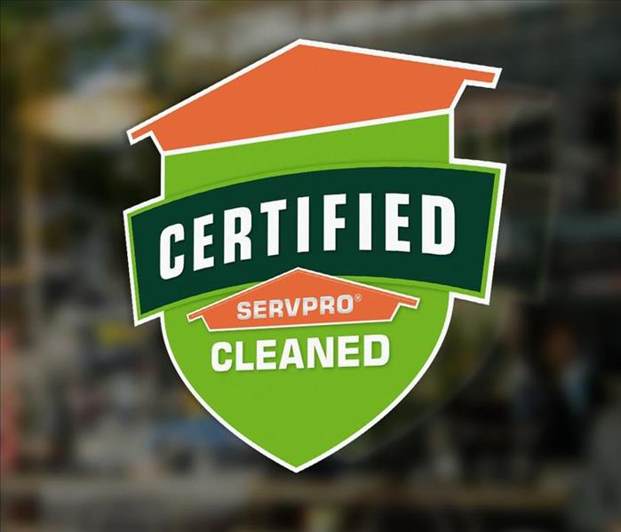 The Certified: SERVPRO Cleaned logo