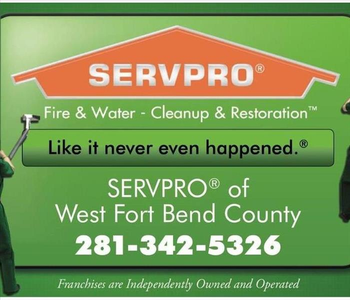 A photo of the SEVPRO of West Fort Bend County cover photo it has the SERVPRO logo as well as the phone number